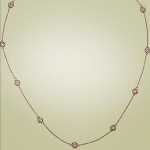 Rose gold plated sterling silver necklace